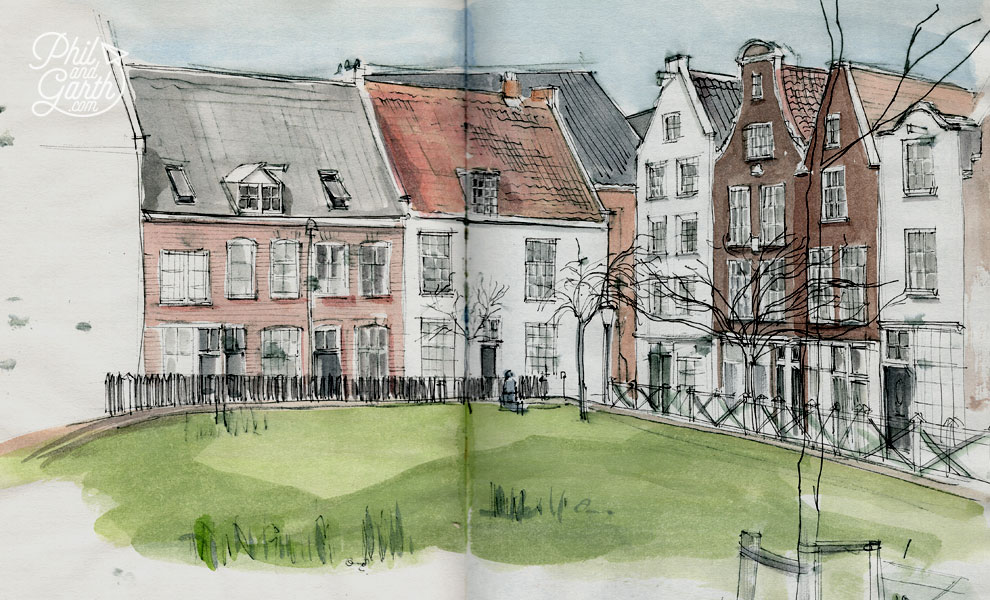 Garth's sketch of Begijnhof