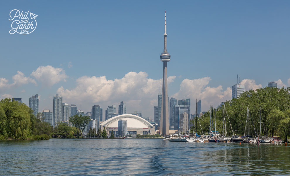 Amazing skyline views from Toronto's islands