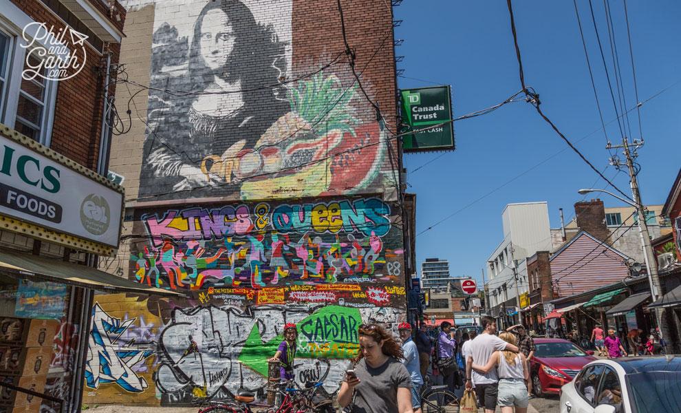 Cool street art in Kensington Market