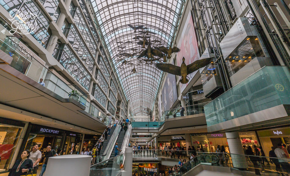 The Eaton Centre shopping mall