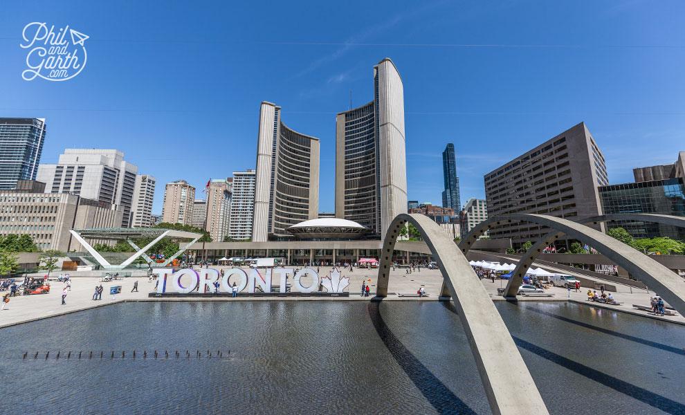 Toronto's City Hall on Nathan Phillips Square
