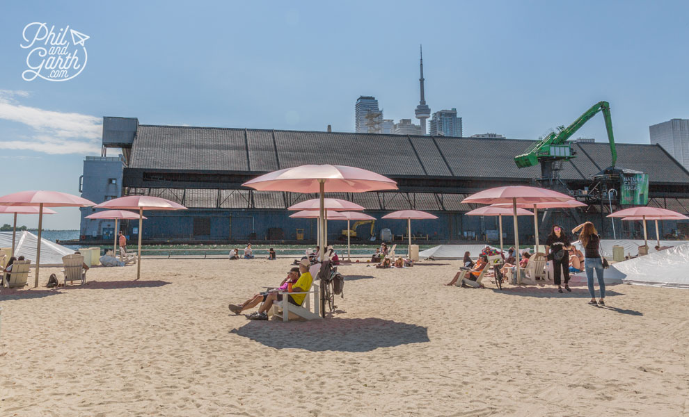 We've never been to an urban beach before