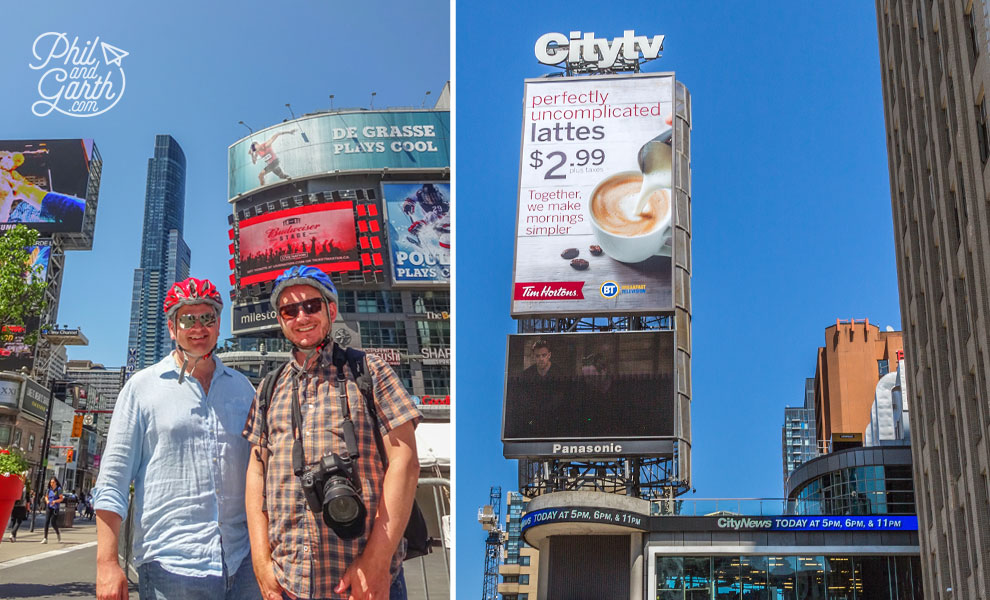 Phil and Garth at Yonge Dundas Square