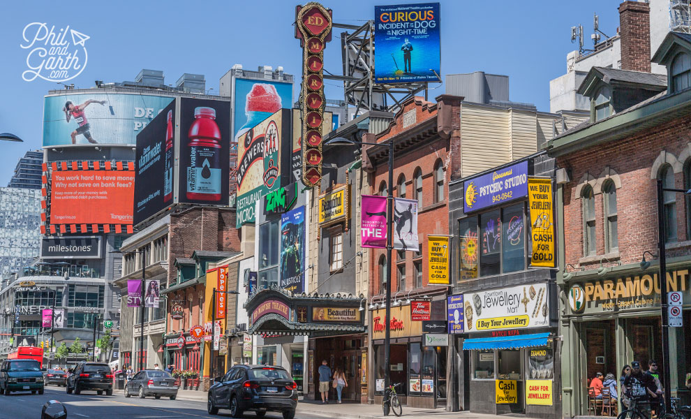 Yonge Street - Toronto's entertainment district