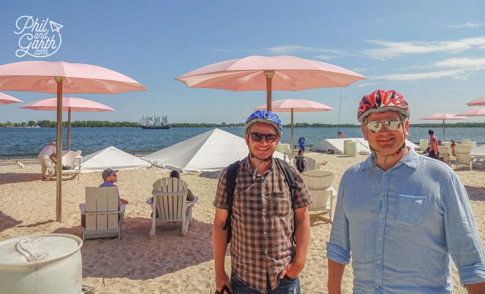 Garth and Phil at Sugar Beach