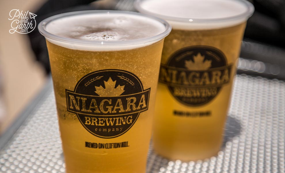 Ice cold beer from the Niagara Brewing company