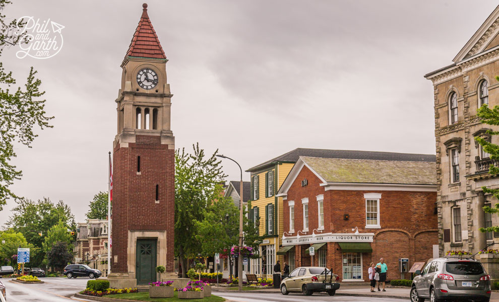 The memorial clock tower of Niagara-on-the-Lake