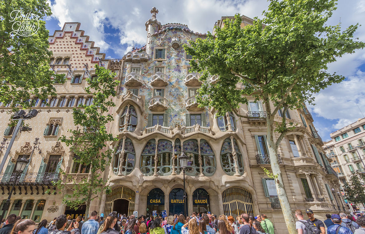 Another of Gaudi's masterpiece's is Casa Batlló