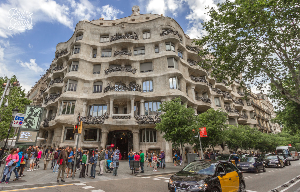 Casa Milà or La Pedrera, another masterpiece by Gaudi