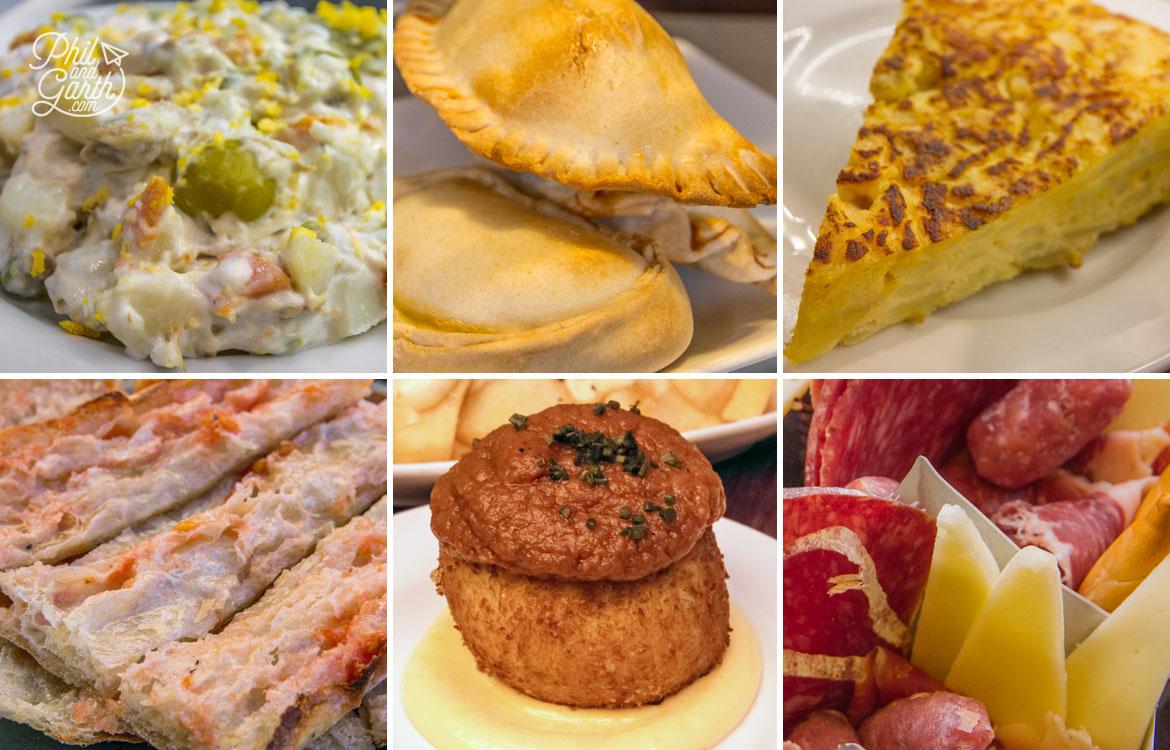 Just some of the mouth watering tapas dishes we tried all over Barcelona