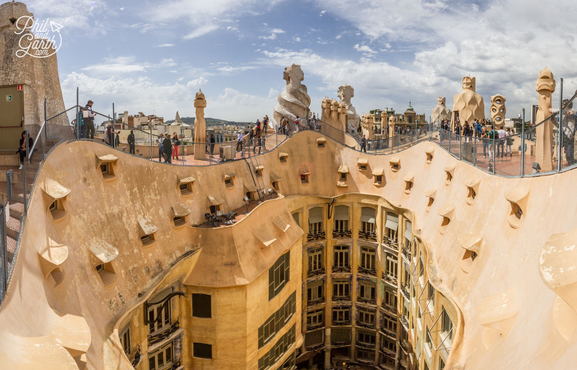 The incredible roof terrace of La Pedrera