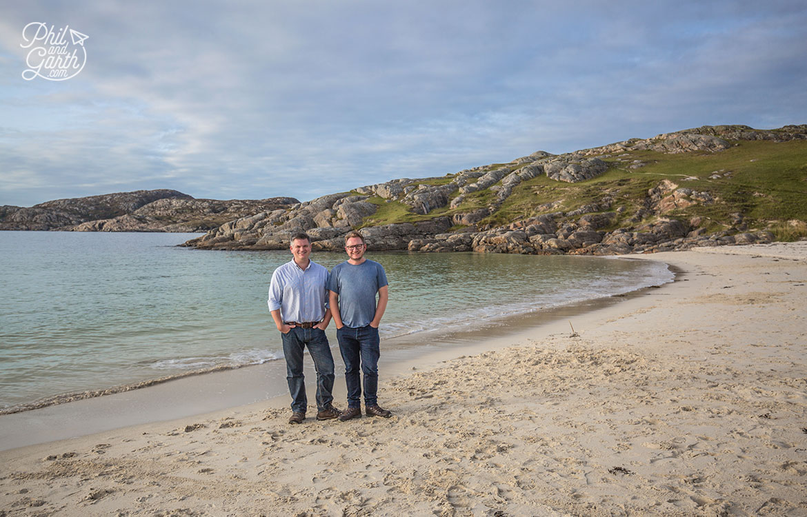 Phil and Garth on Achmelvich beach