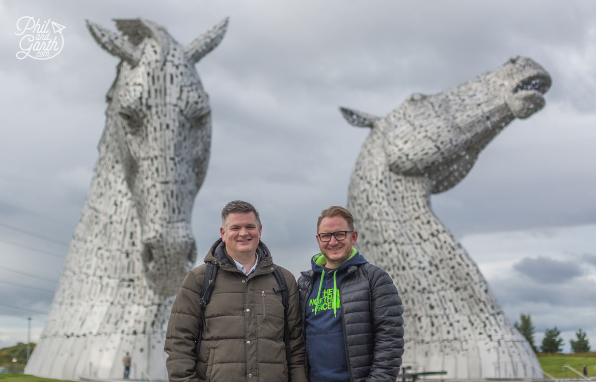 Phil and Garth at The Kelpies