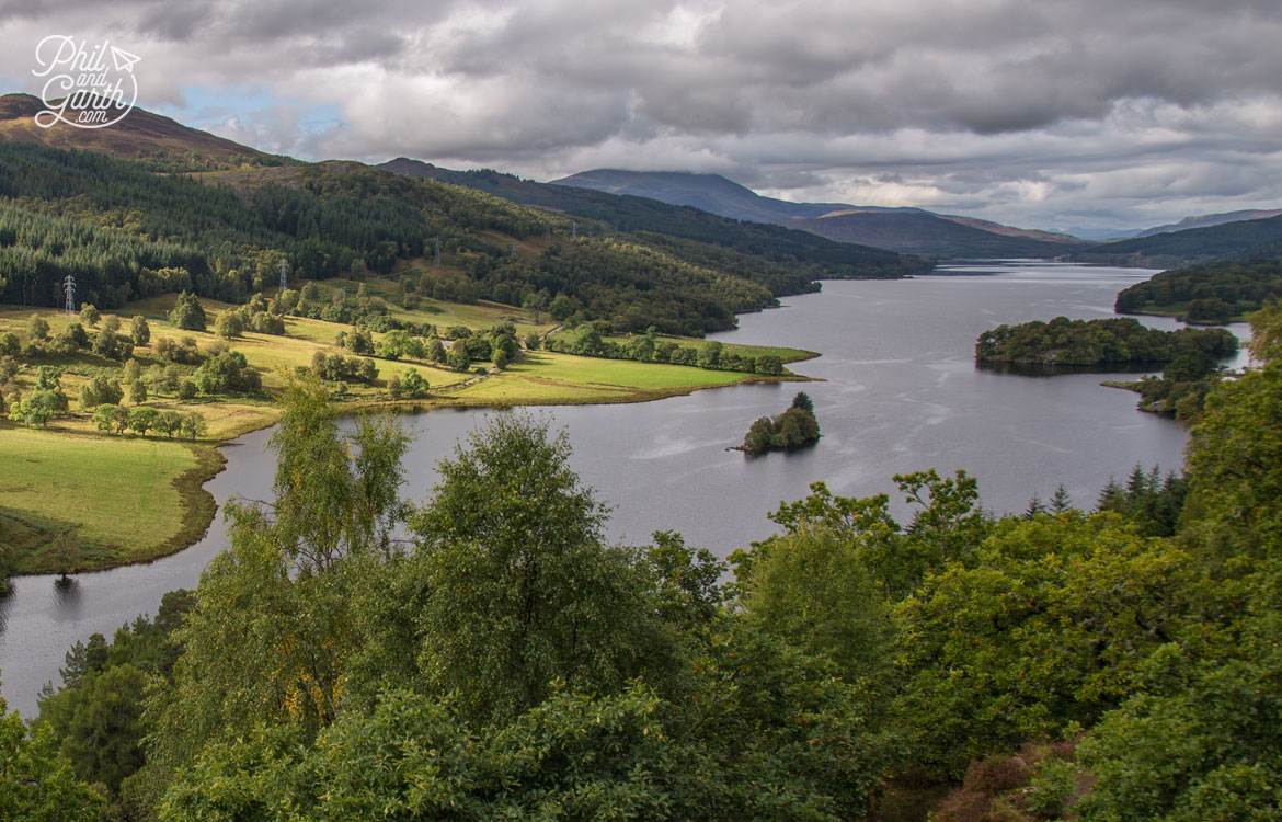 Scottish Highlands in 7 Days - Queens View over Loch Tummel with the Glen Coe mountains in the distance