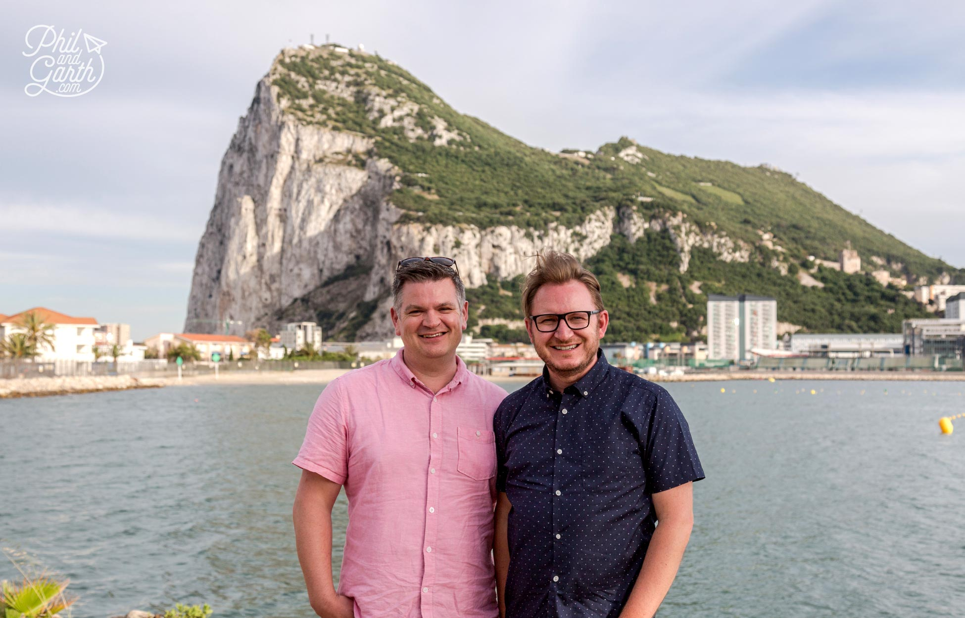 Phil and Garth in Gibraltar