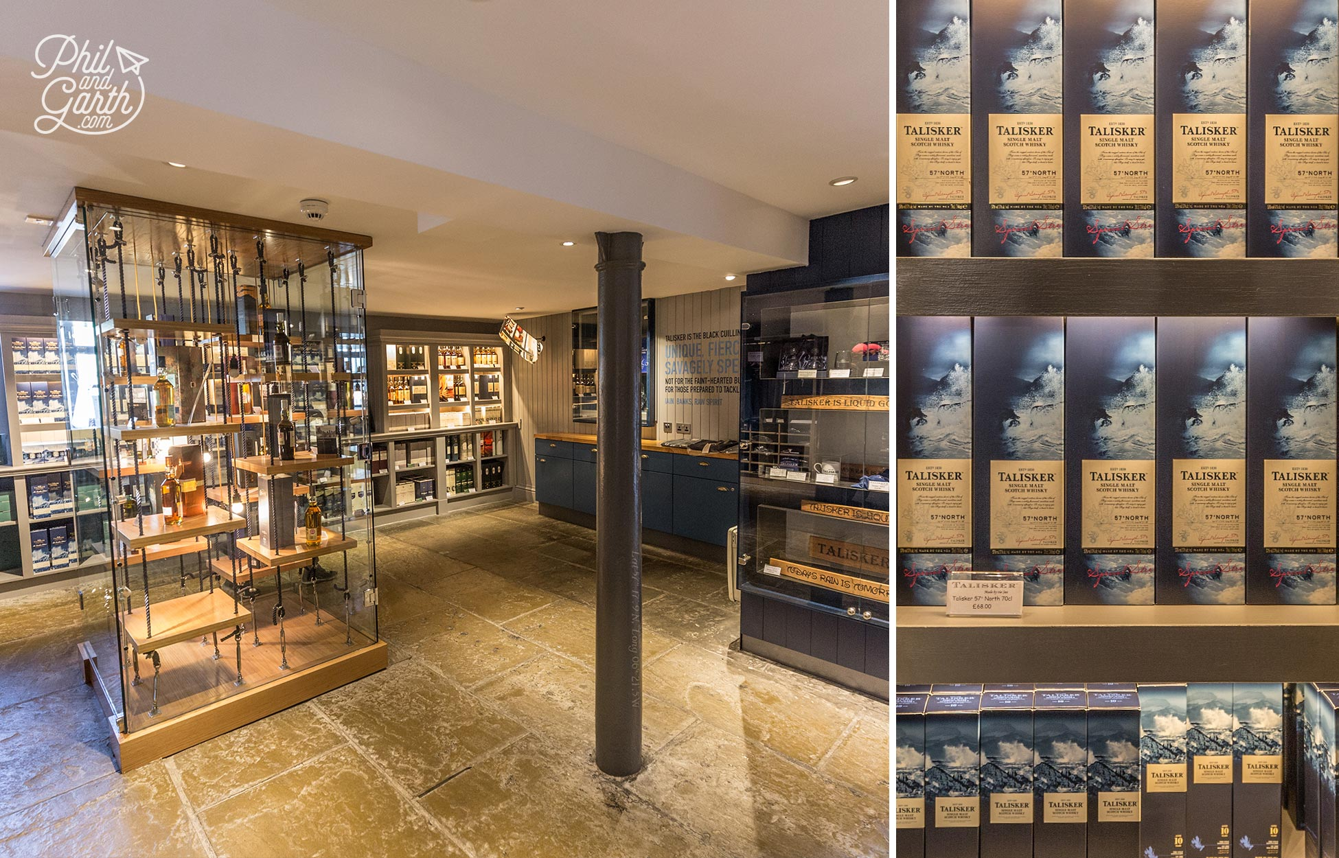 Inside the Talisker Distillery Shop