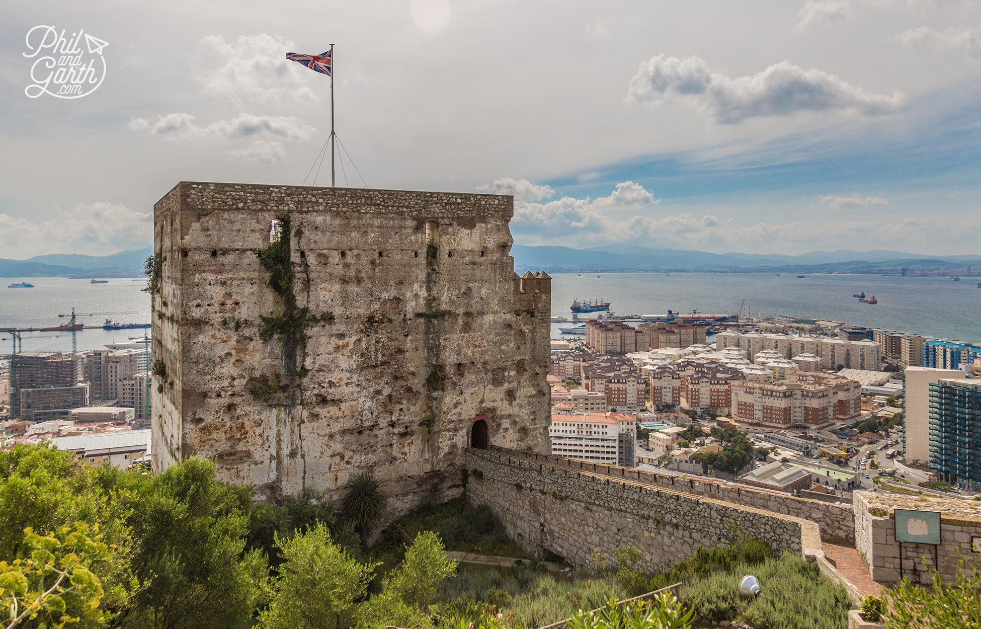 The medieval fortification of the Moorish Castle
