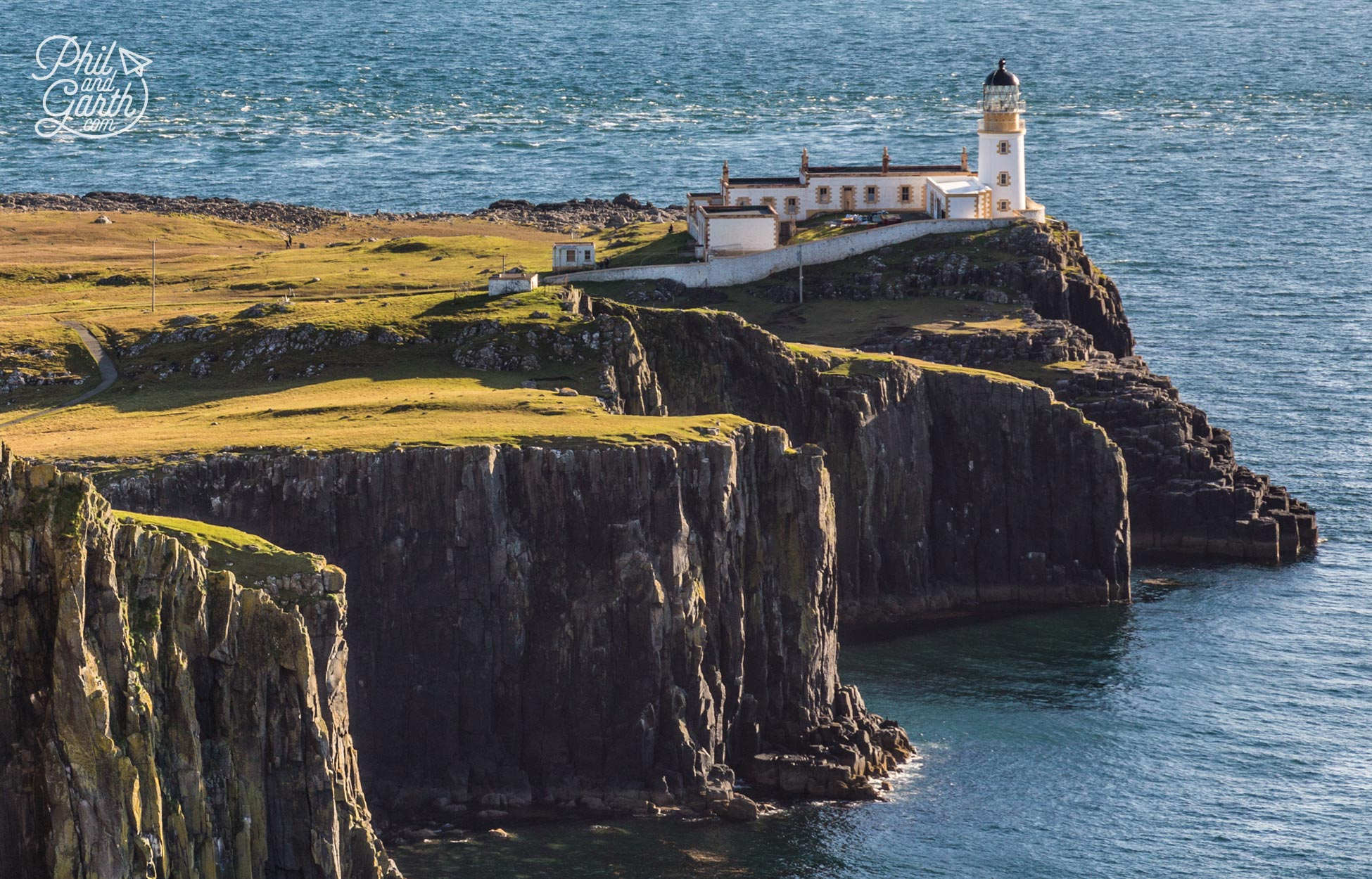 Scotland's famous Neist Point Lighthouse built in 1900