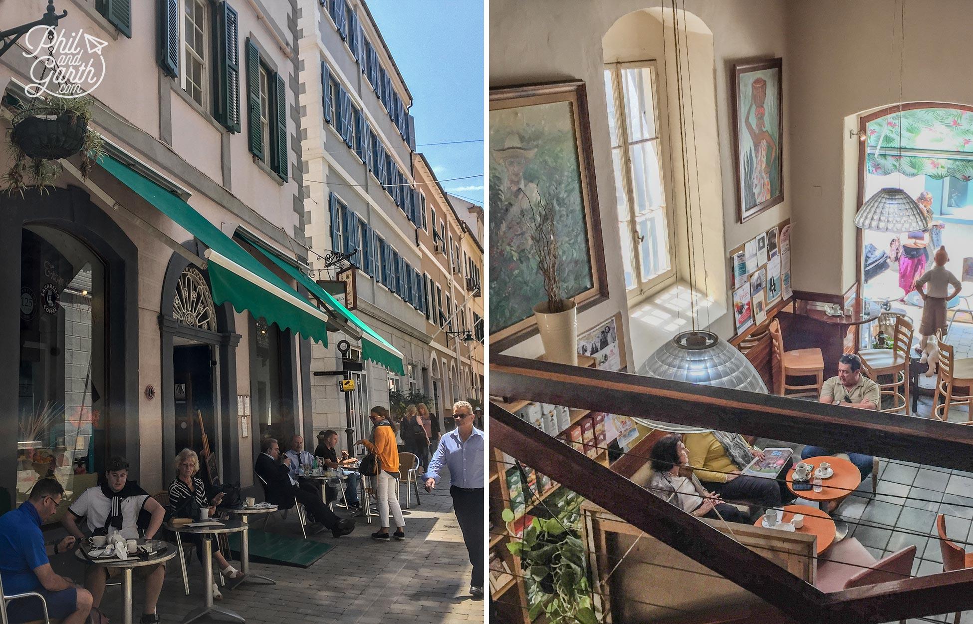 Sacarellos in Irish Town for deli food and coffee