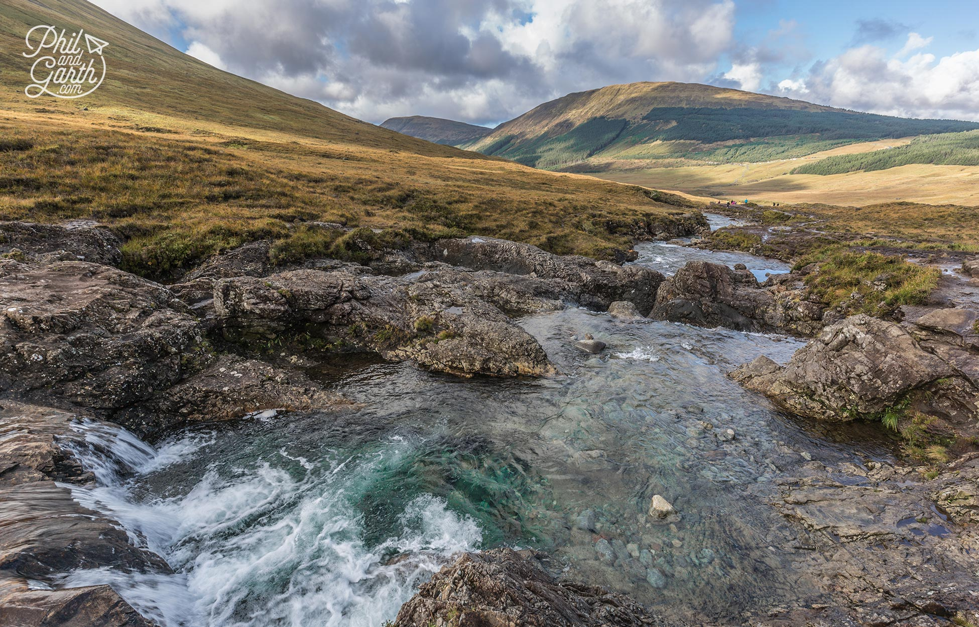 The beautiful rock pools of crystal clear spring water