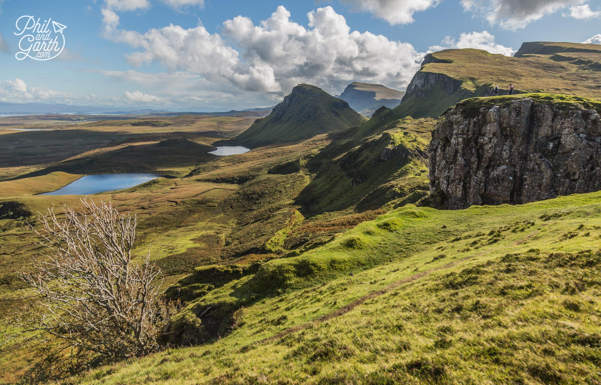 The otherworldly landscape of The Quiraing