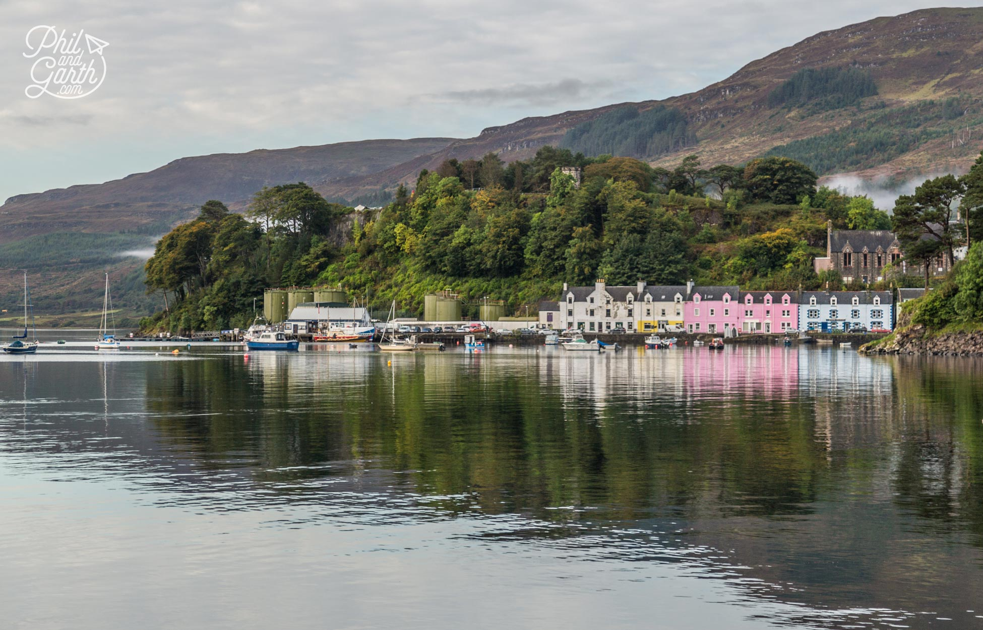 The pretty coloured houses of Portree