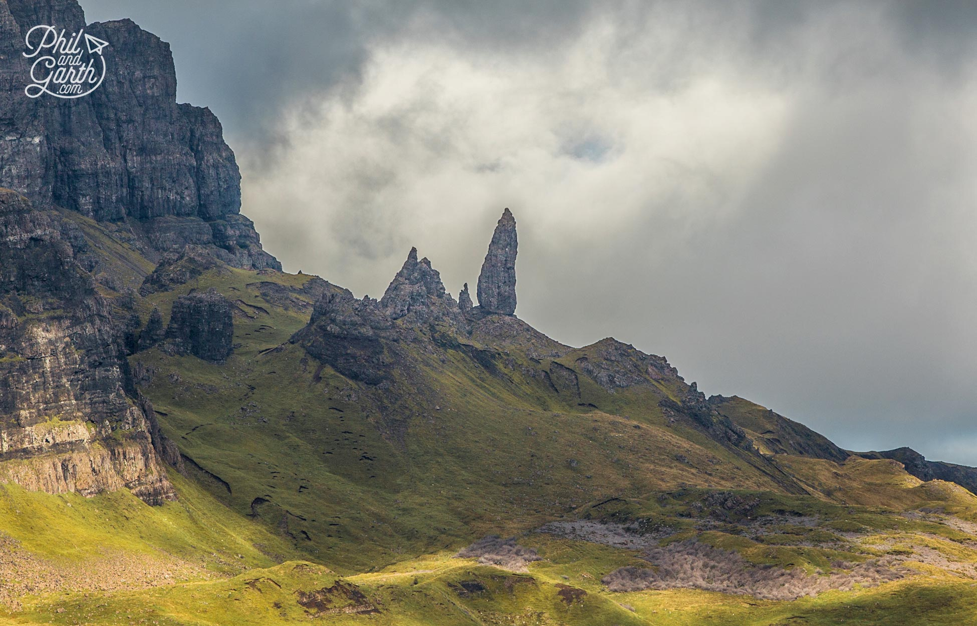 The Old Man of Storr stands 50 metres tall