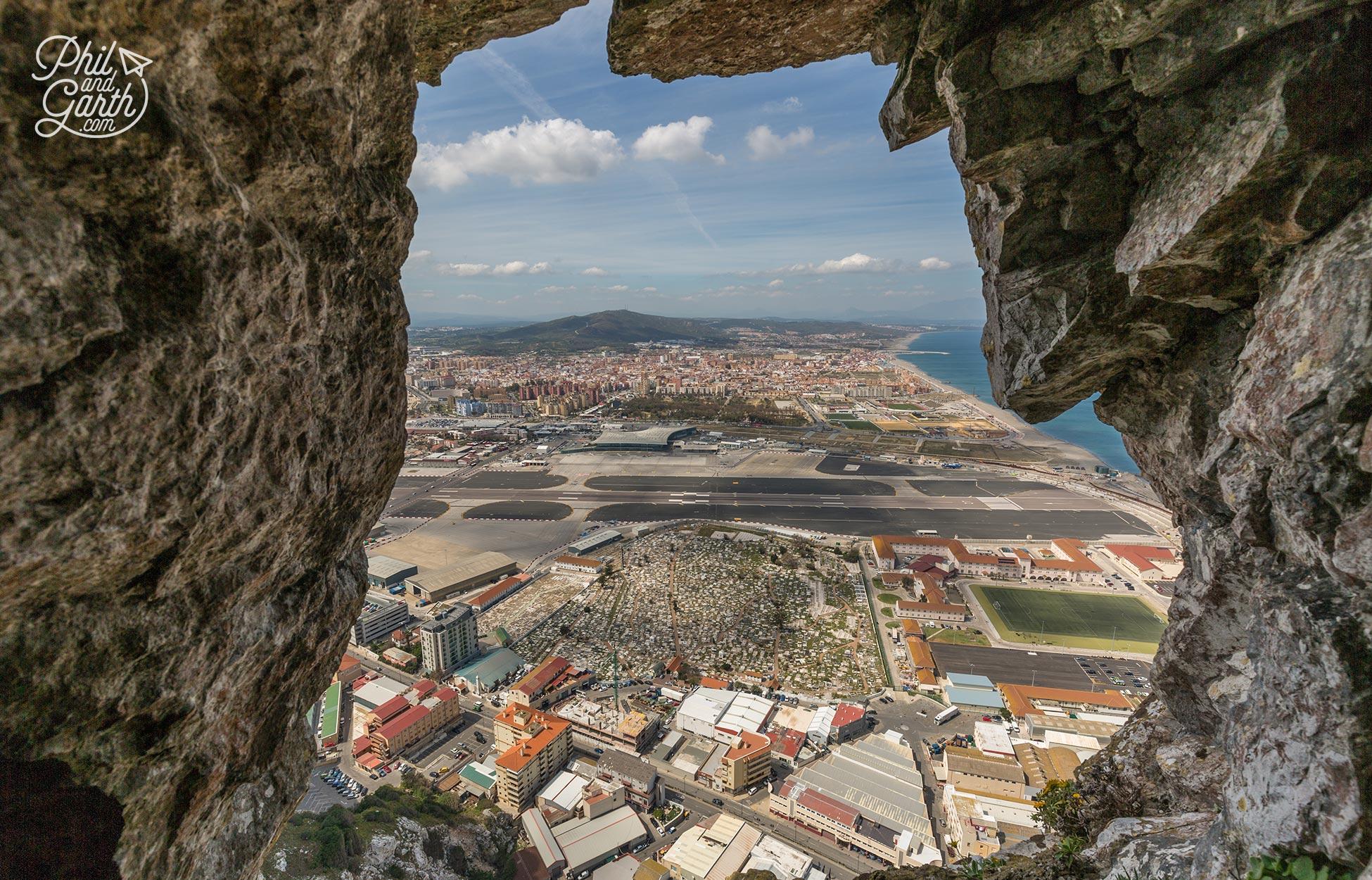 View to Gibraltar below