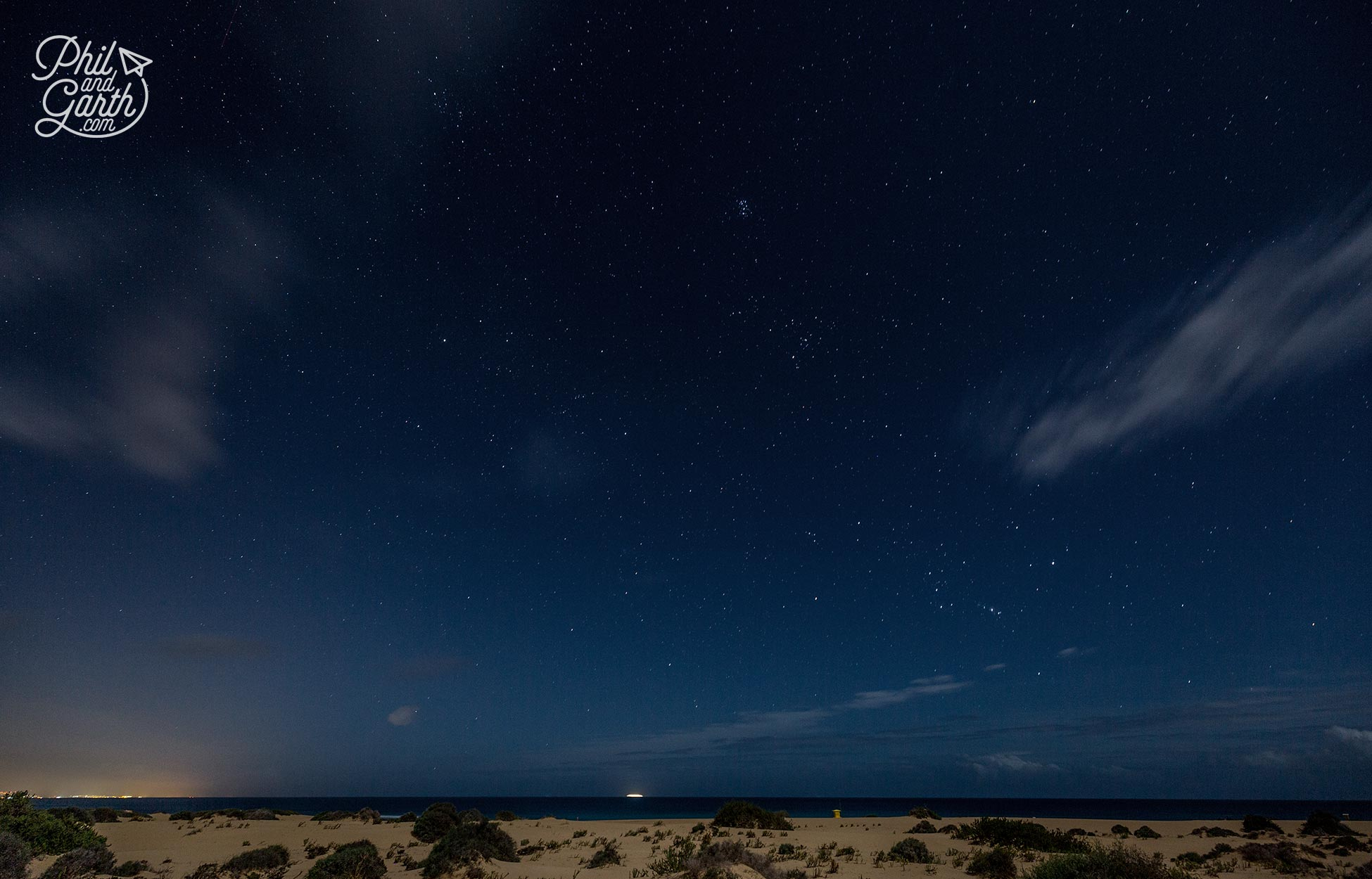 Experimenting taking dark sky photographs over the beach