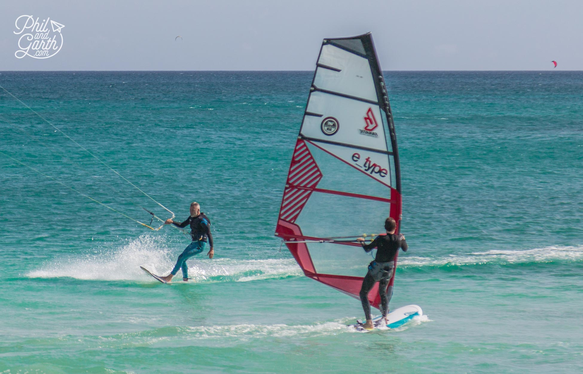 Fuerteventura is really popular with wind and kite surfers