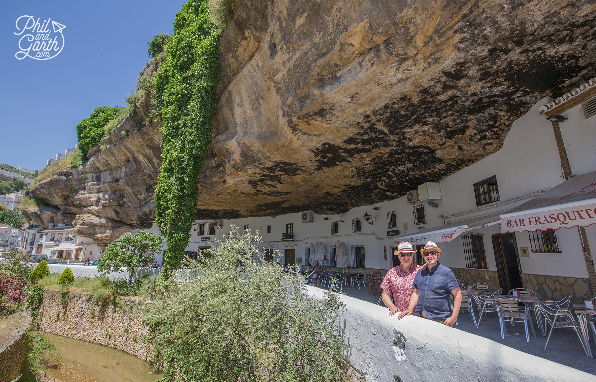 Phil and Garth in Setenil de las Bodegas