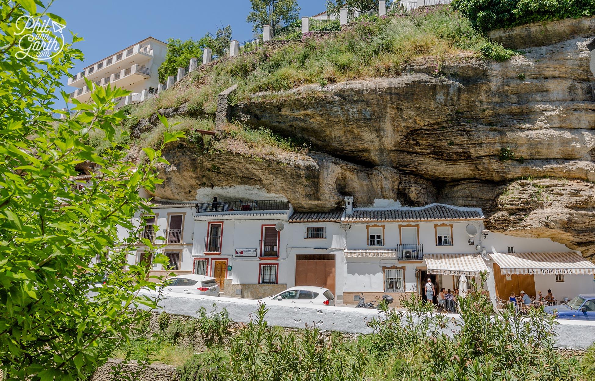 'Sun Street' Cuevas del Sol in Setenil de Las Bodegas