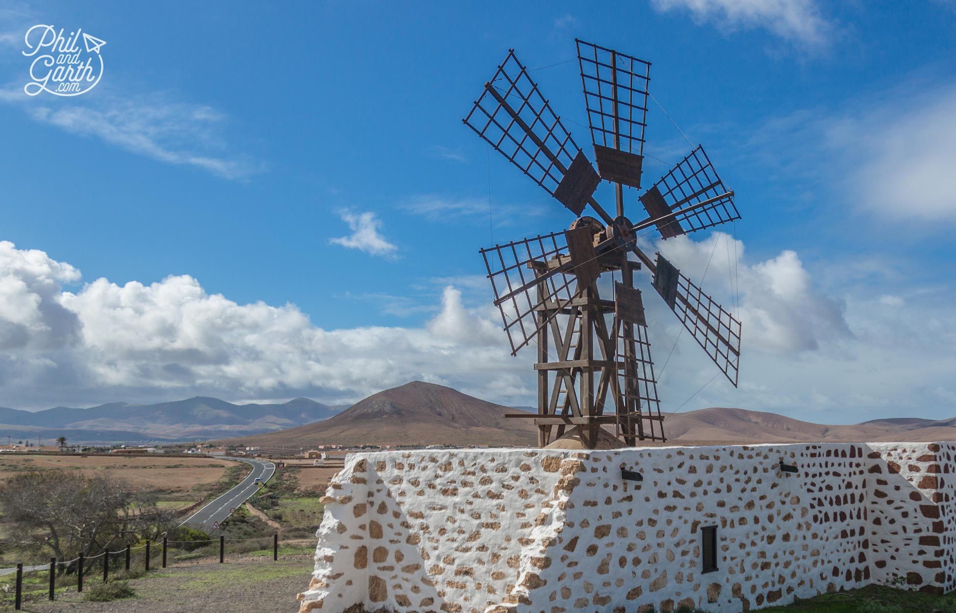 Old flour windmills are dotted all over Fuerteventura