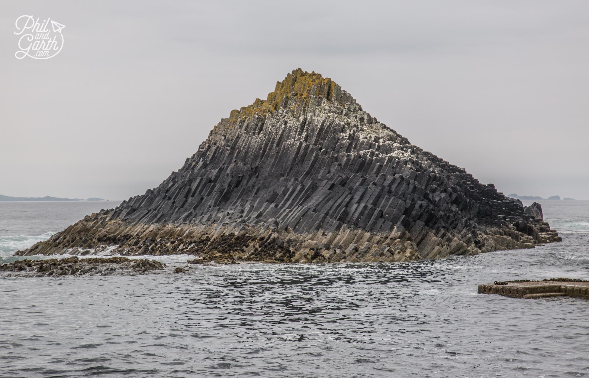 Beautiful rock formations on Staffa