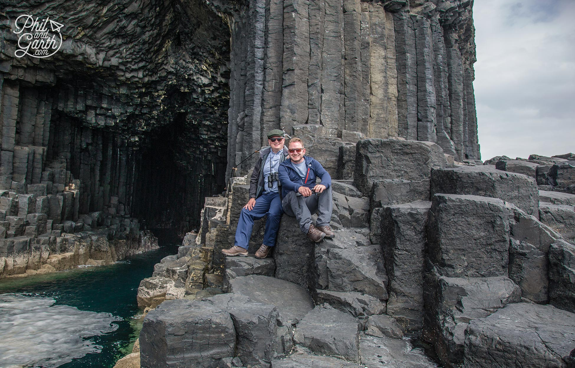 Phil and Garth on The Isle of Staffa