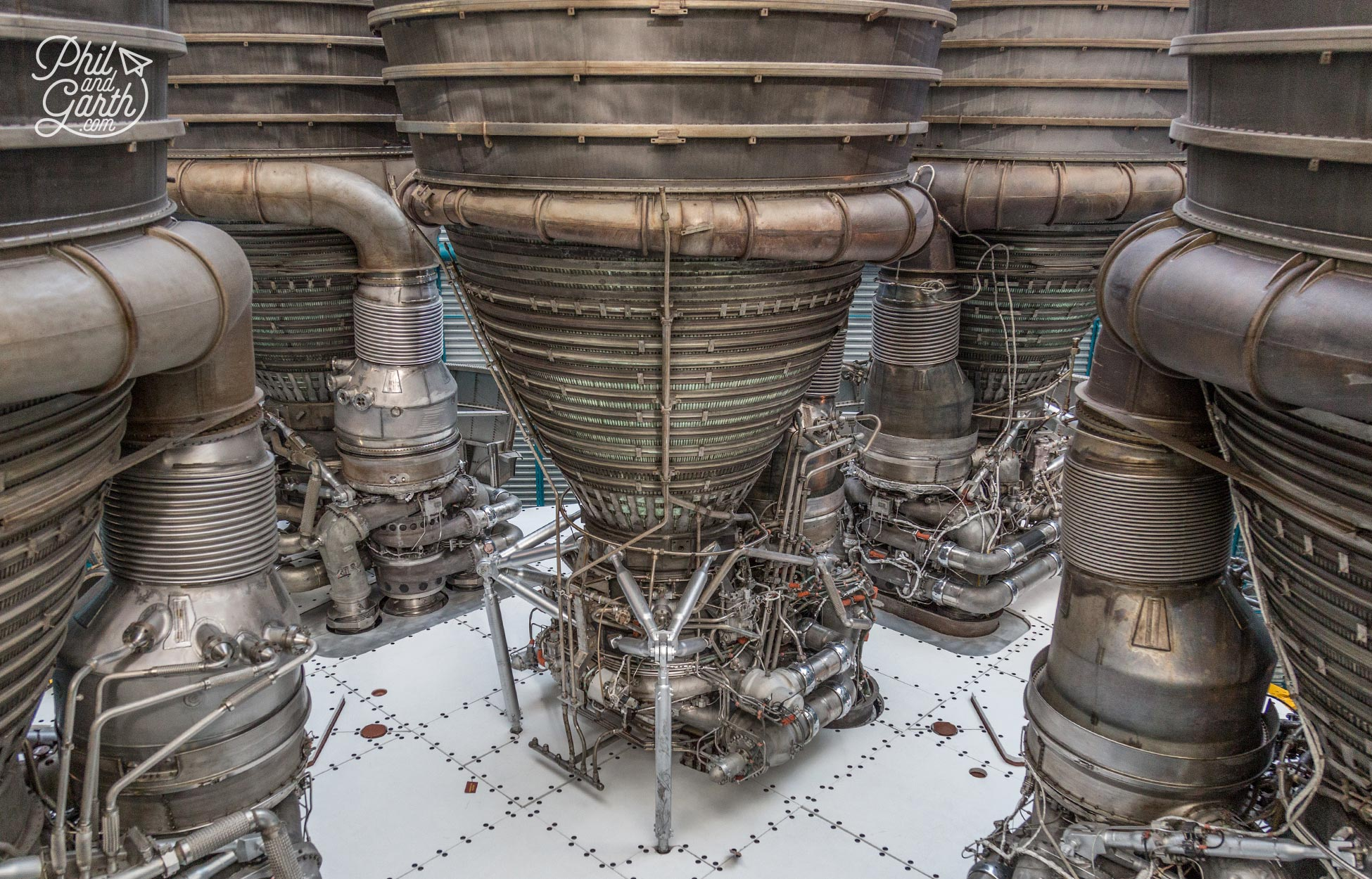 Close up of Saturn V's 1st stage engines