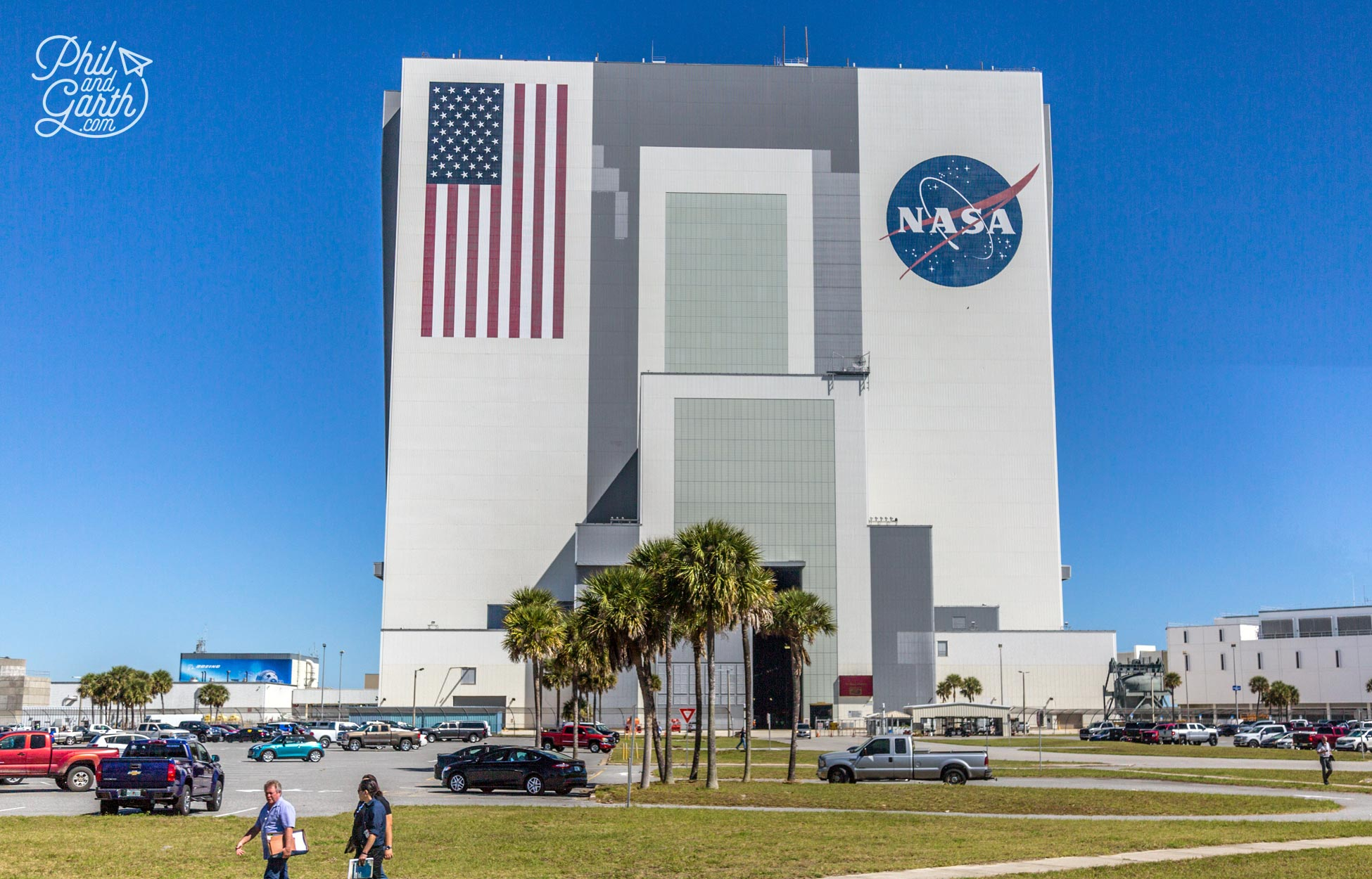 NASA's enormous Vehicle Assembly Building. It has the world's biggest doors!