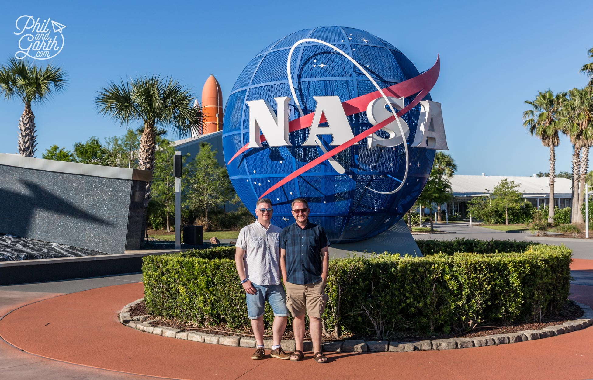 Phil and Garth at NASA's Kennedy Space Center