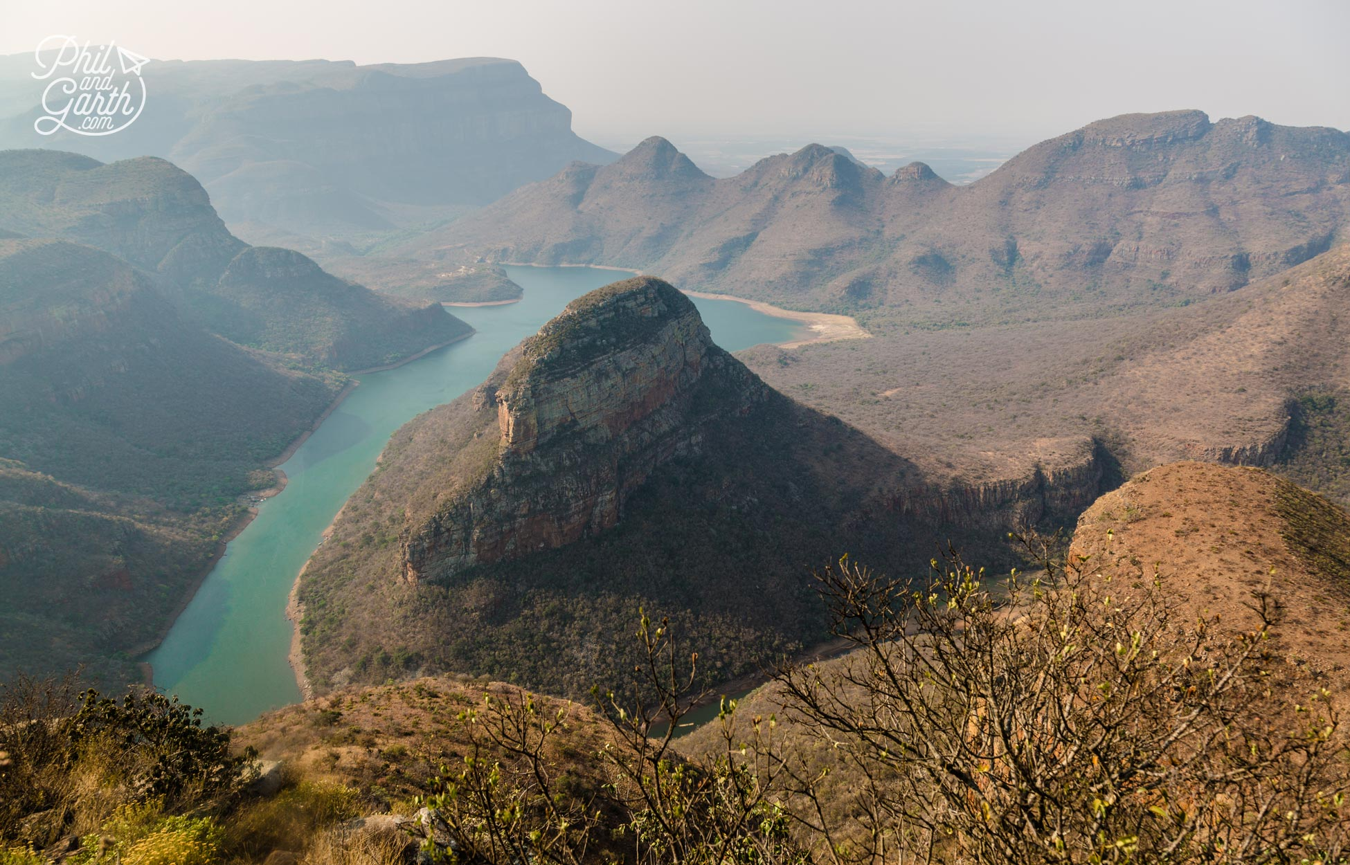 Looking down on Blyde River Canyon