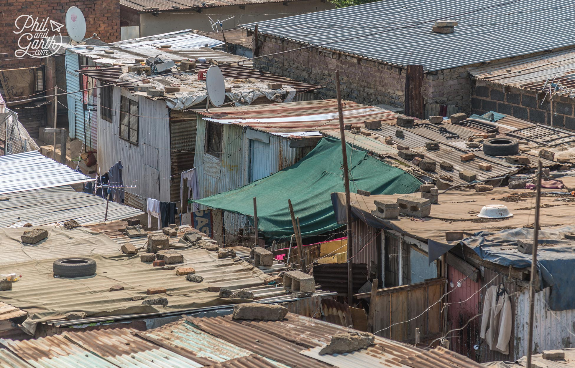 Homes in the Kliptown township