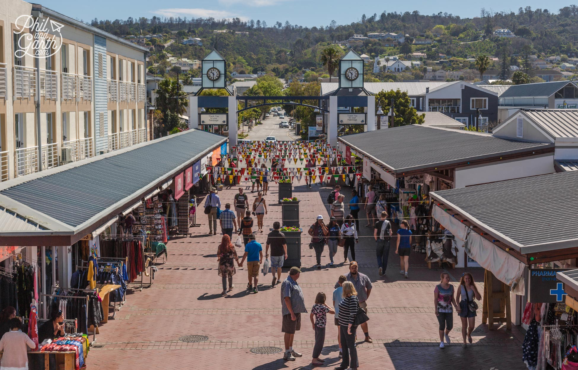 Plenty of shopping opportunities in Knysna