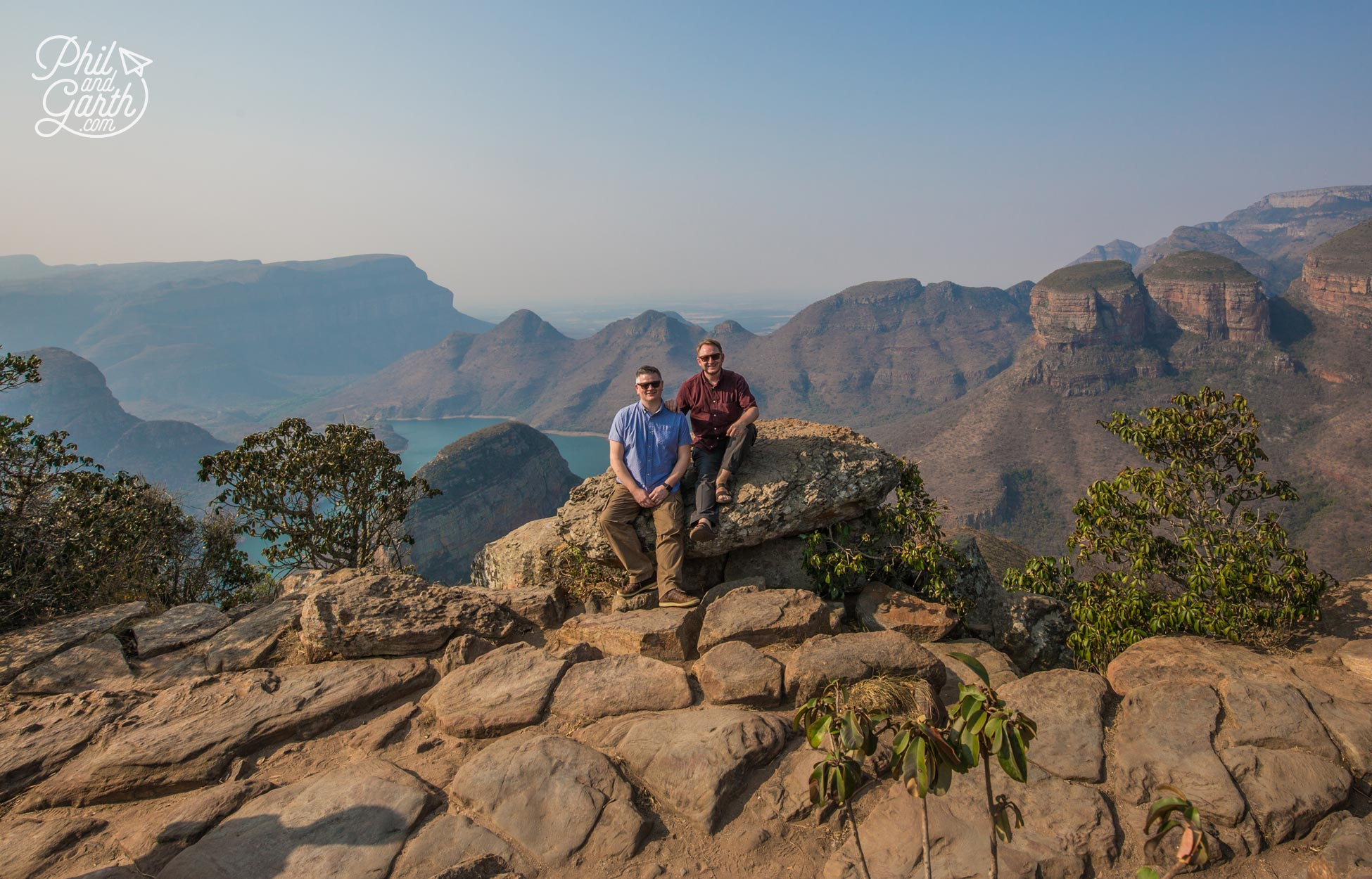 Phil and Garth at Blyde River Canyon, Mpumalanga