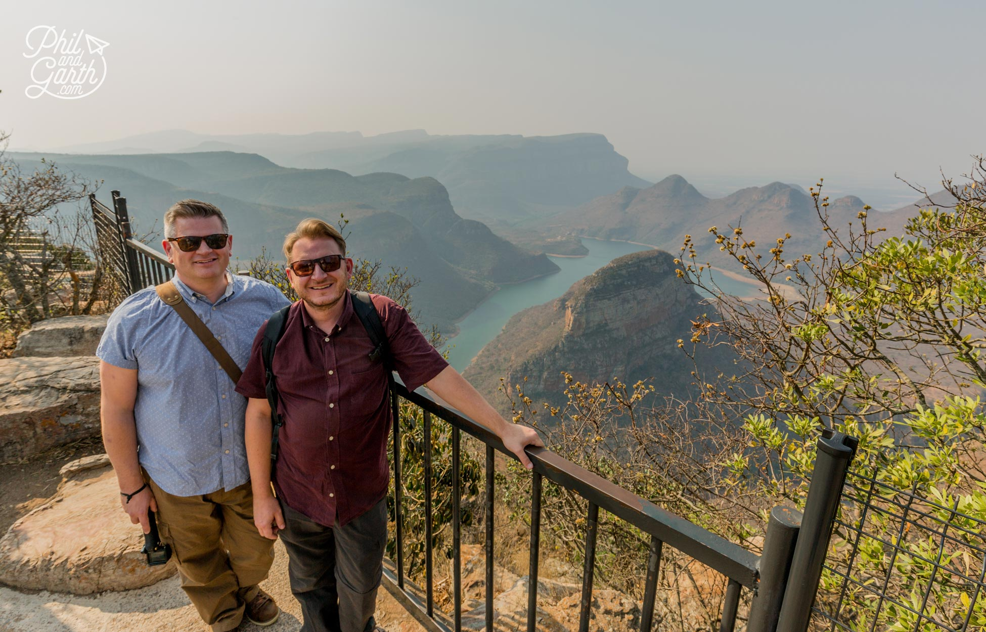 Phil and Garth at Blyde River Canyon