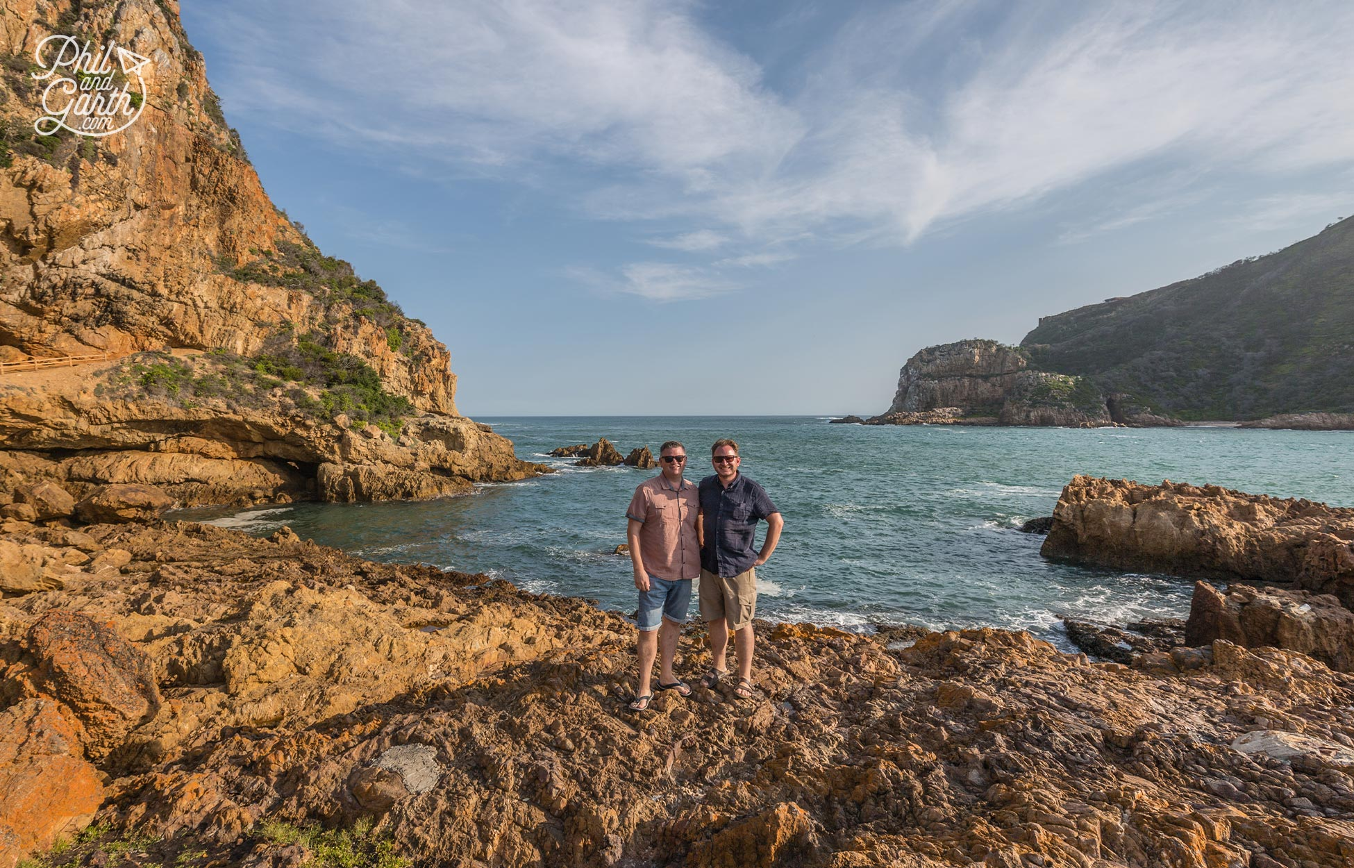 Phil and Garth at Knysna Heads