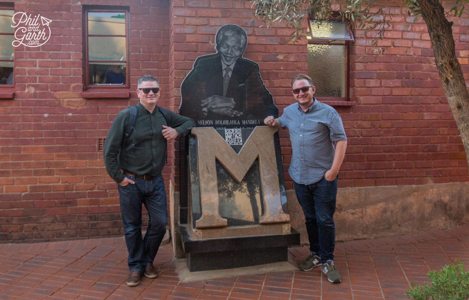 Phil and Garth with Madiba