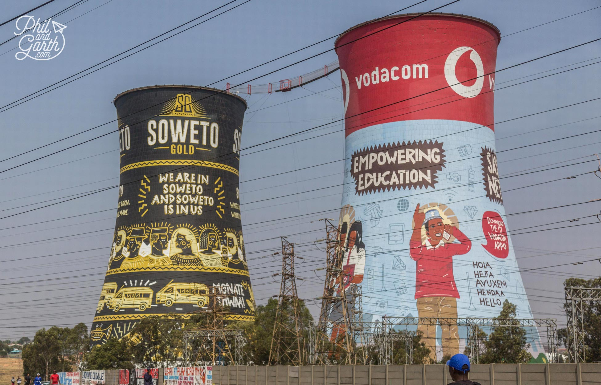 Soweto's famous Orlando Towers - now a playground for thrill seekers