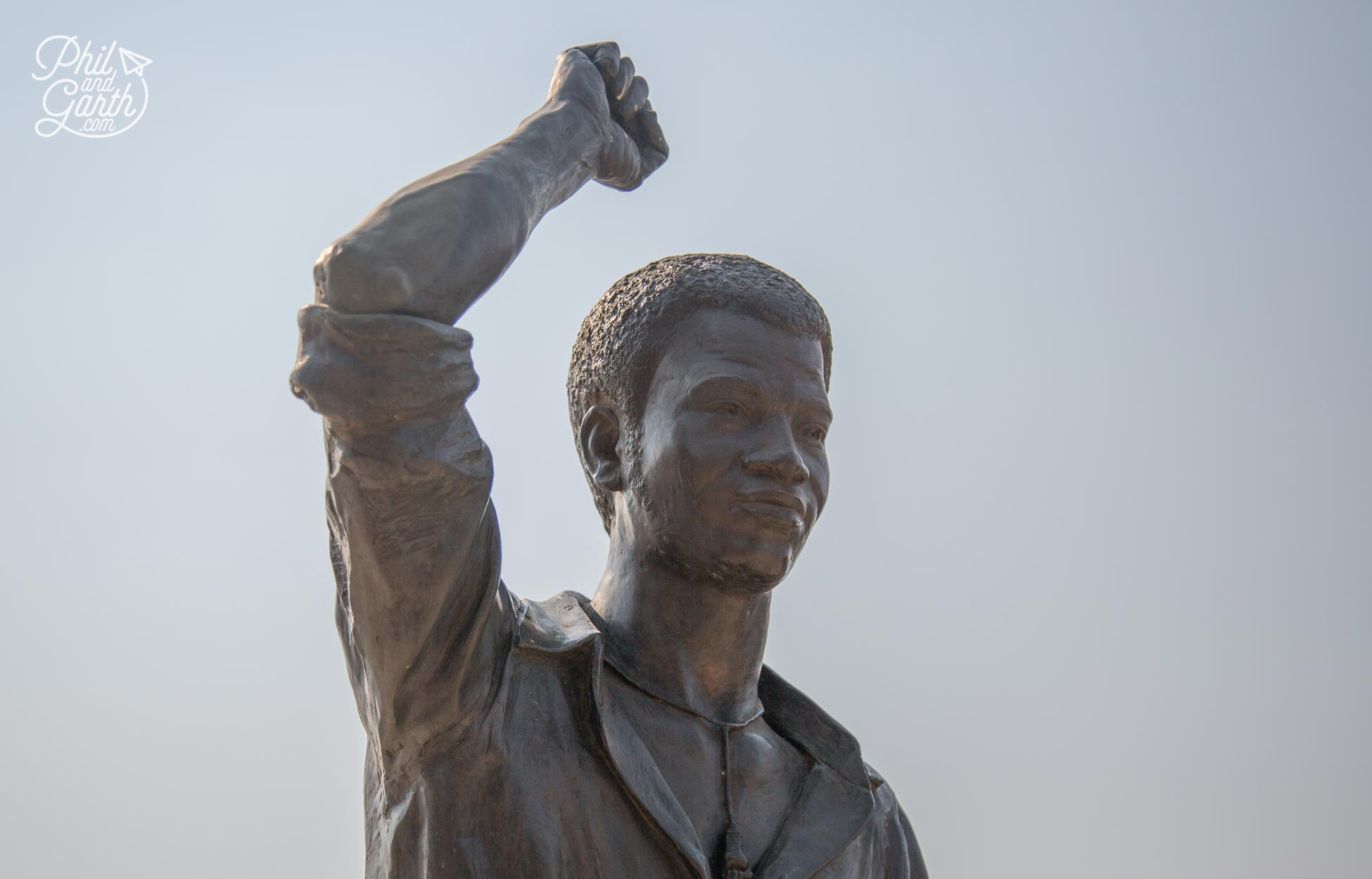Statue of Tsietsi Mashinini who led the peaceful student protest