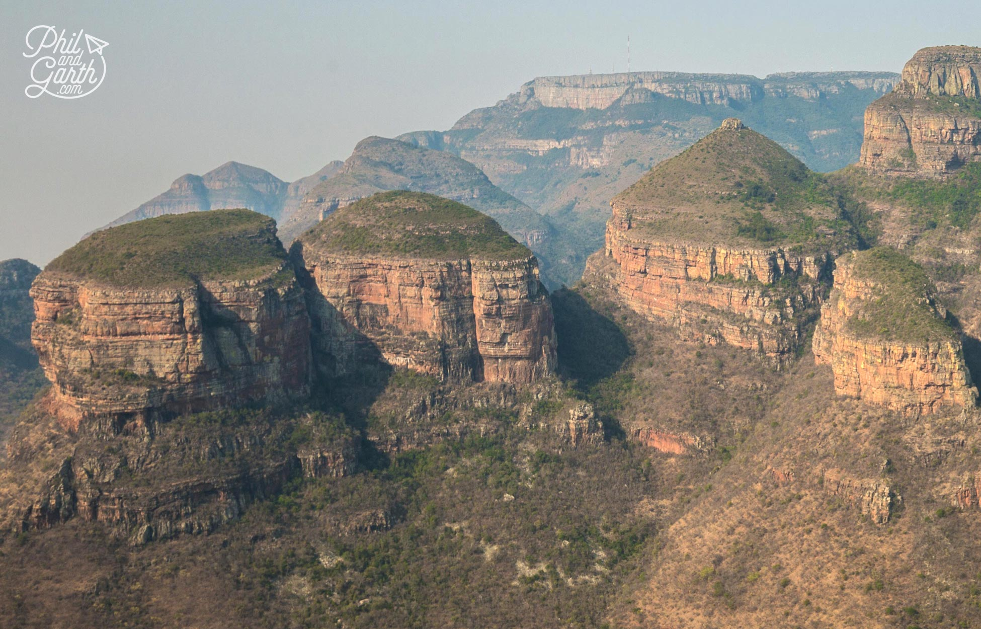 Left to right - Magabolle, Mogoladikwe and Maseroto - the Three Rondavels, Blyde River Canyon