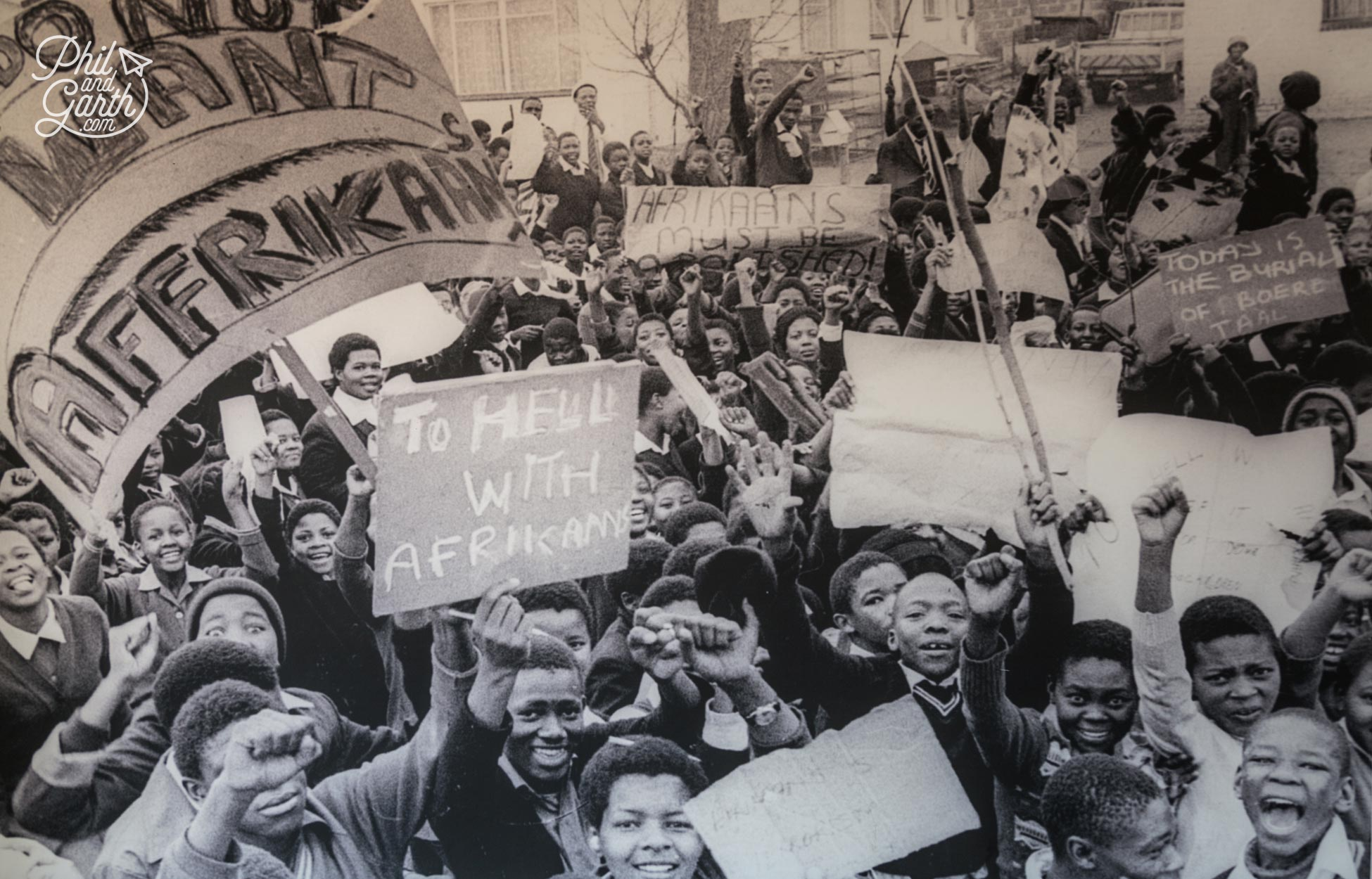 The schoolchildren of Soweto marching on June 16th 1976