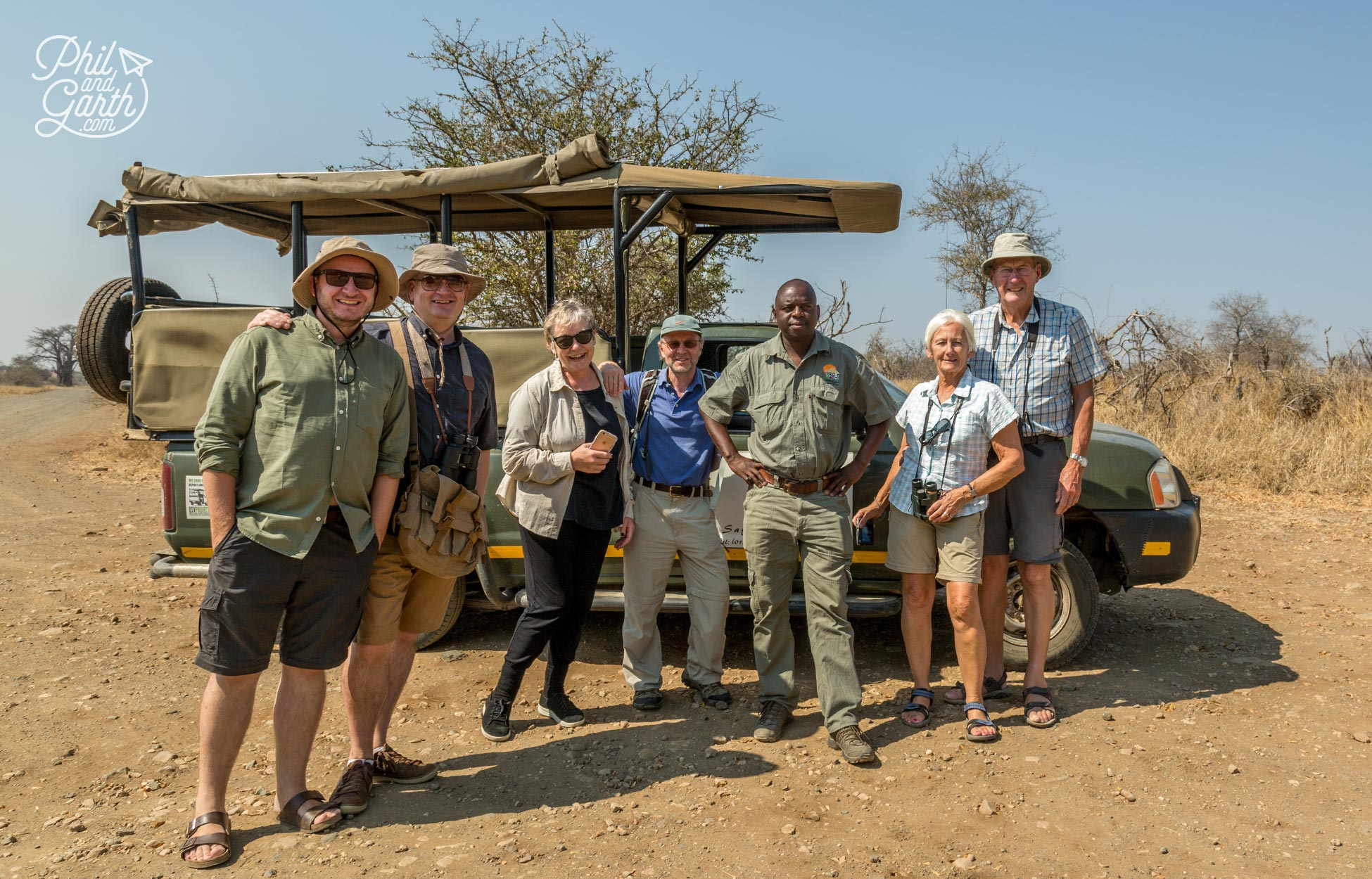 2 day Kruger National Park Safari - Time for a quick group shot with our guide Eric